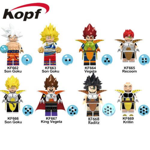 8PCSX Dragon Ball Z Super Saiyan Building Blocks Boys Gifts Goku Figure Fit Lego