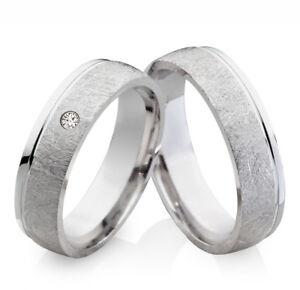Eheringe Verlobungsringe Partnerringe aus Titan 925 Silber mit Zirkonia TS631