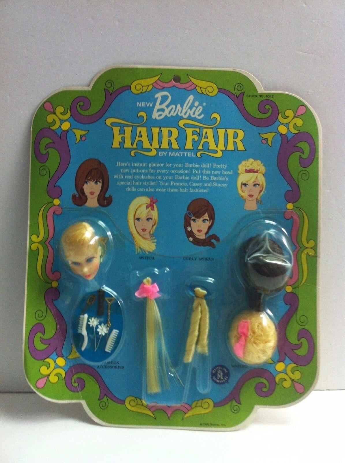 Vintage Muñeca Barbie Barbie Feria de cabello rubio Primera Edición Nuevo nunca quitado de la caja en caja como nuevo Menta en paquete de menta en tarjeta