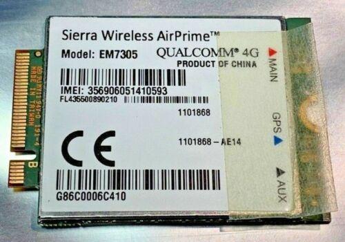 ☆ QUALCOMM Sierra EM7305 WWAN EDGE LTE 3G 4G NGFF card Dell E5450 E5550