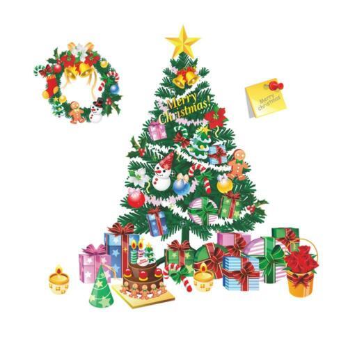 globeagle Wandsticker Weihnachtsbaum für Fenster und Fenster BF#