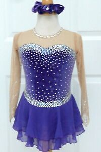 Kim Competition Ice Skating Dress Child Size 14
