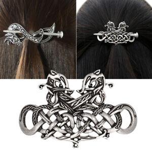 Women-Retro-Celtics-Metal-Knot-Hair-Stick-Slide-Clips-Hairpins-Hair-Accessories