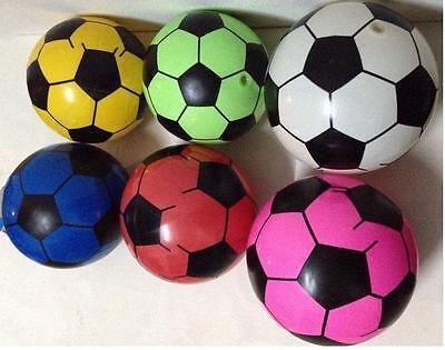 12 SOCCER BALL novelty toy kick balls SPORTS inflate play soccor bulk lot PVC