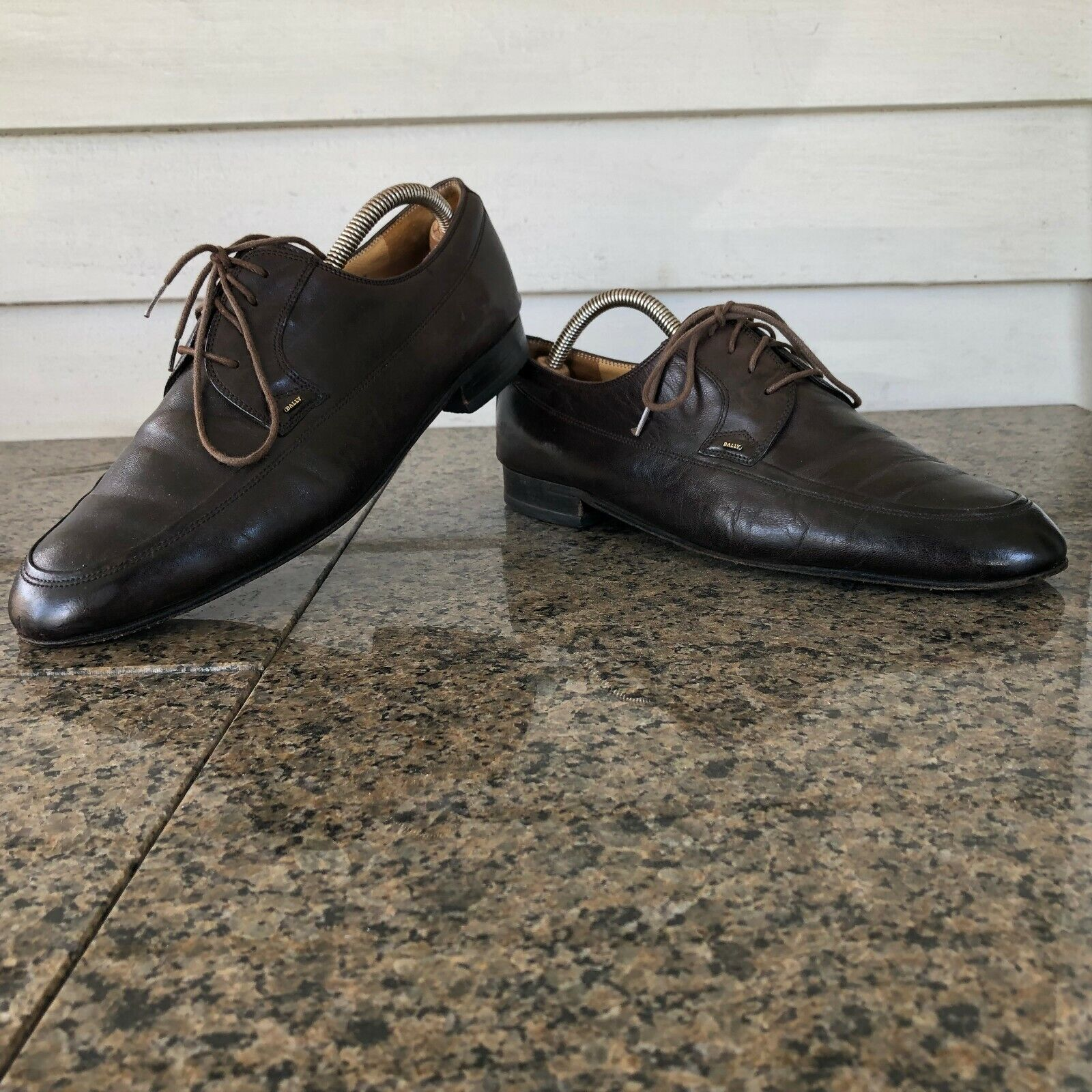 Bally Sz 9 E Chocolate Brown Leather Oxford Men's shoes