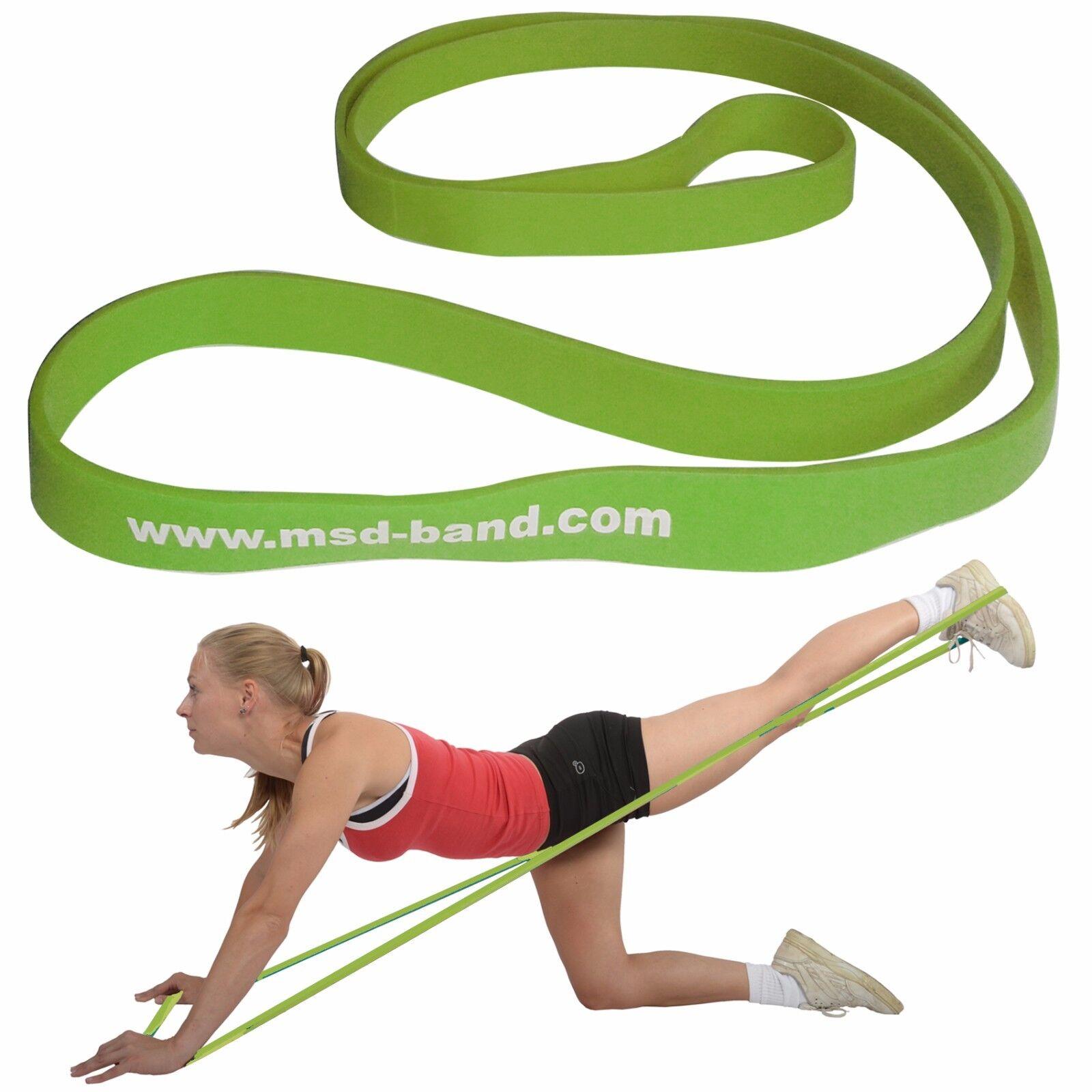 Msd SUPERLOOP Verde MEDIO Allung 100%=22,5 kg Body Elastico Chiuso Fascia Banda Body kg 78b3be