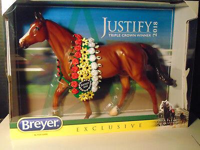 Breyer Traditional Horse Justify Model #9300 Triple Crown Winner Racehorse