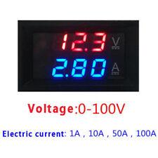 Digital Red Led Voltage Meter Dc100v 10a Voltmeter Ammeter Bluered Led Amp B Fi