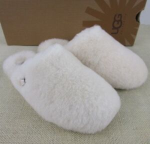 c9cd62cc809 Details about Ugg Fluff Clog 1005564 NAT Natural Women's Slippers house  shoes New in Box