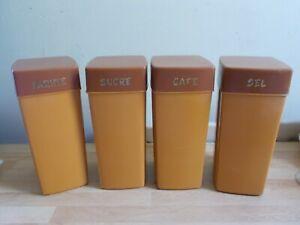 GéNéReuse 4 Boîtes à épices En Plastique Vintage Activation De La Circulation Sanguine Et Renforcement Des Nerfs Et Des Os