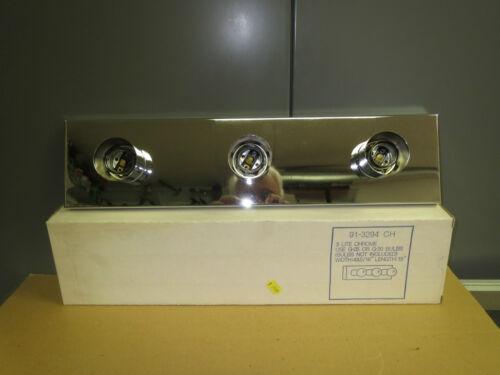CHOME THREE BULB LIGHT FIXTURE NEW IN BOX