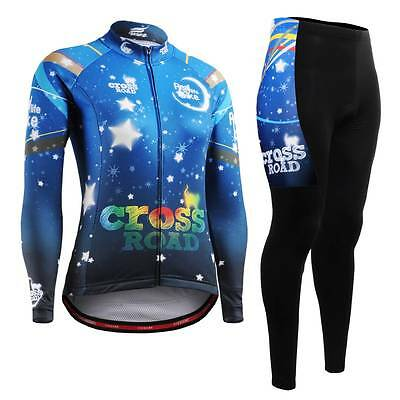 FIXGEAR CS-W2301-SET Women's Cycling Jersey & Padded Pants MTB Bike BMX Roadbike