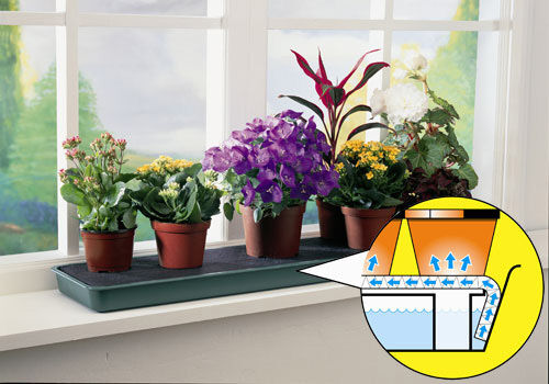Pot Plants Are Watered While You are Away Garland Self-Watering Windowsill Tray