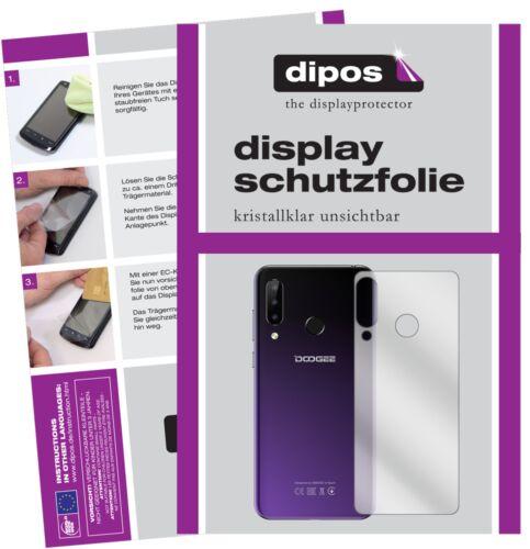 5x lámina protectora para doogee n20 reverso display lámina claramente protector de pantalla