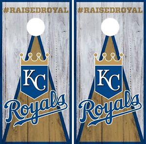 Kansas City Royals Cornhole Wrap Mlb Wood Game Board Skin