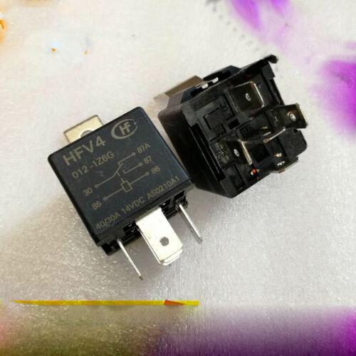 2pcs new   Hongfa Relay HFV4-012-1Z6G 12VDC 40//30A 5 feet