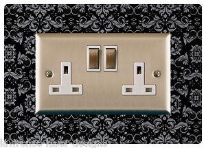 Double Electric Plug Socket Surround Finger Plate Decorative