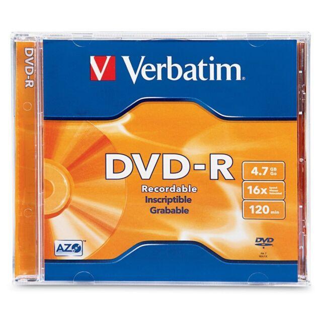 Verbatim DVD-R 4.7GB 16X  1-Pack Jewel Case