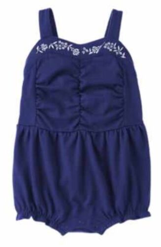 Gymboree COASTAL BREEZE Blue Floral Romper One-piece sz 0-3 M NWT Girls