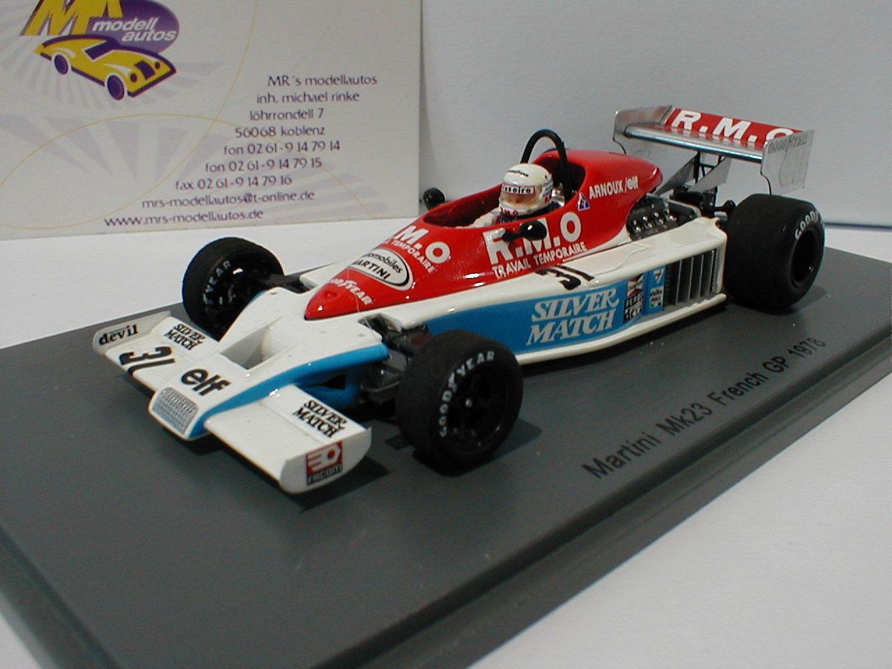 SPARK s4838-Martini mk23 no. 31 French GP 1978 René Arnoux 1 43