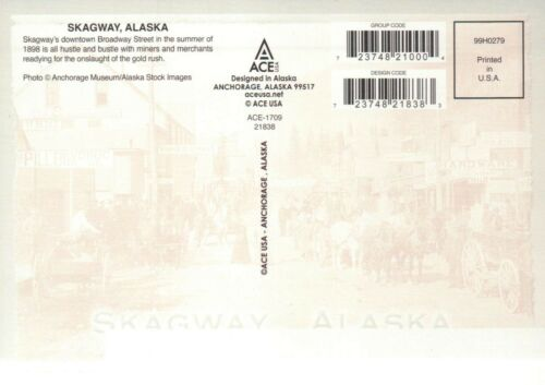 - Postcard Skagway Alaska Downtown Broadway Street in 1898 during Gold Rush AK
