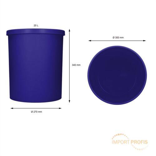 Mülleimer Stand-Abfalleimer Küche Restmüll Papierkorb Eimer 11L 20L 50L 5er Pack