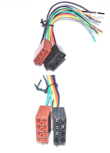 Autoradio-ISO-Cavo-connettore-altoparlanti-Elettricita-Adattatore-Radio-Din-ISO-Cablaggio