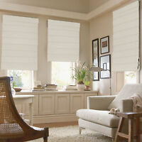 Fabric Roman Window Shades - 11 Colors, 13 Sizes