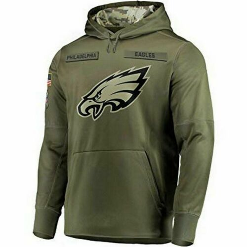 Details about  /New Men/'s Philadelphia Eagles Olive Salute to Service Sideline Therma Hoodie