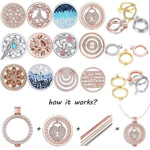 Diy gold silver crystal rhinestone my coin holder locket chain image is loading diy gold silver crystal rhinestone my coin holder aloadofball Image collections