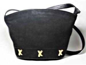 Details about VINTAGE PALOMA PICASSO HANDBAG BLACK SUEDE ZIP TOP BUCKET SHOULDER BAG ITALY VTG