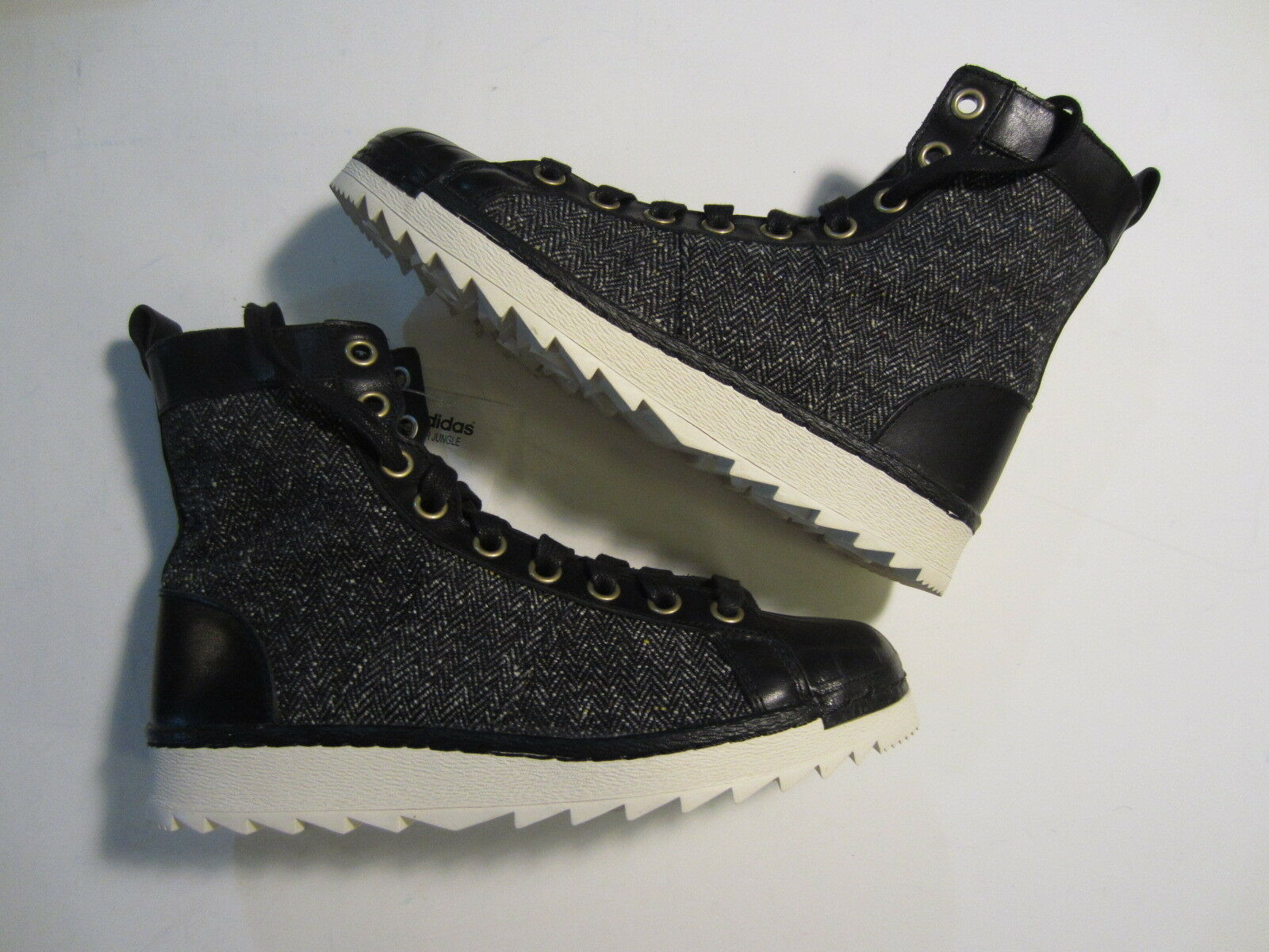 NEW Adidas Superstar Jungle Originals mens high boot shoe B35229 black 7 - 8.5