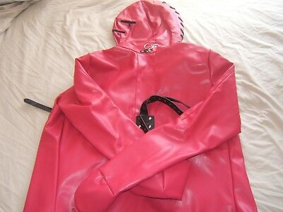 Leather Monoglove with straps Straight Jacket,costume party escapology suit