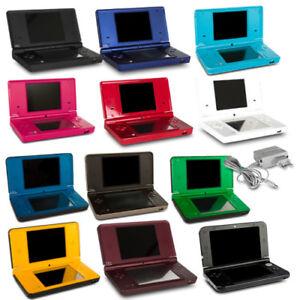 Nintendo-Dsi-XL-Consola-Negro-Blanco-Rojo-Azul-Rosa-Verde-Amarillo-Cargador
