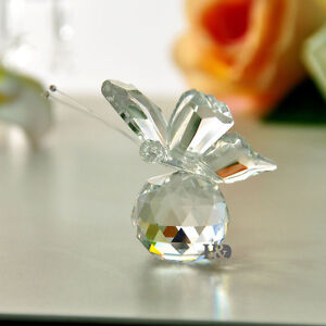 New-Clear-Crystal-Glass-Cut-Lovely-Small-Butterfly-Parked-Ball-Child-Gift-Decor