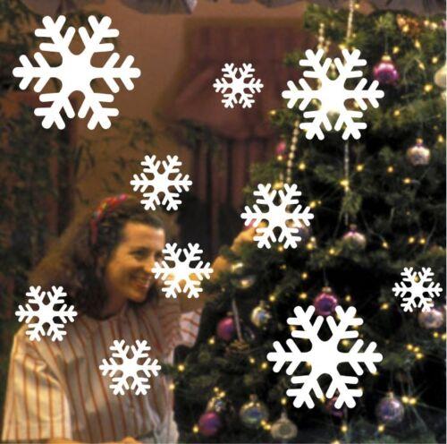 30 X SNOWFLAKES CHRISTMAS DECORATIVE WINDOW WALL  STICKERS UK