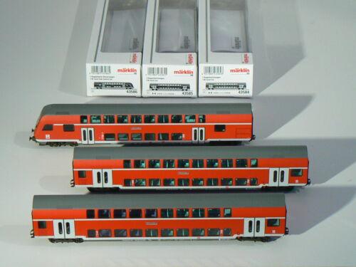 neu 43586 rot Doppelstock -Wagen Set DB 43585 Märklin H0 43584 OVP
