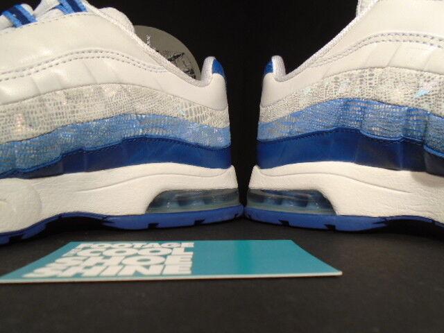 damen Nike Air Max 95 Premium PISCES Weiß Blau Blau Blau RIBBON Silber grau 314043-141 7 df17a1