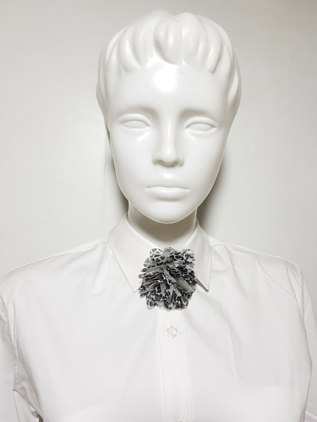New Claire's Girl's Women's Bow Tie Black White Lace Flower Bowties