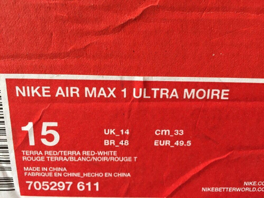 nike air max - 1 ultra moire pink - max weiße grauzement 15 männer laufschuh 705297-611 3e2ed9