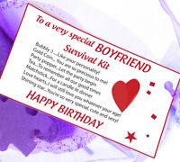 BOYFRIEND GIRLFRIEND HUSBAND WIFE Survival Kit Gift Card Fun Present him her