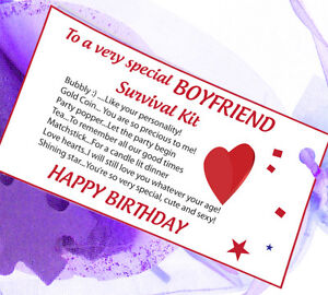 Boyfriend Girlfriend Husband Wife Survival Kit Gift Card