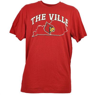 Weitere Ballsportarten Pflichtbewusst Ncaa Colosseum Louisville Cardinals Herren Rot T-shirt Staat Map The Ville Sport
