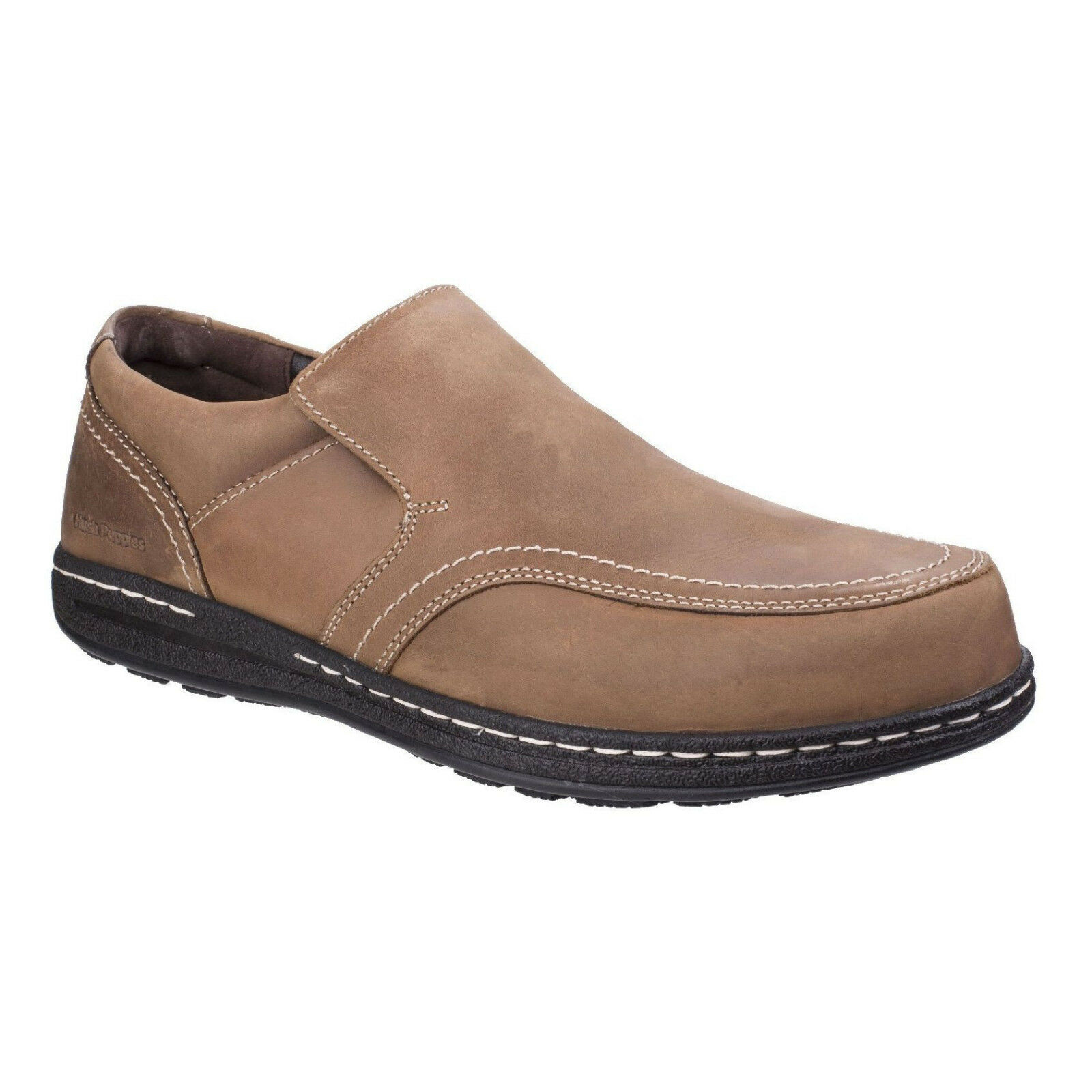 Hush Puppies-Vindo Victory Men's Tan Bown Leather Casual Slip on shoe UK 7 EU 41