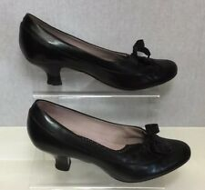 Clarks Ladies Black 40s Retro Office Court Shoes UK Size 5.5/38.5