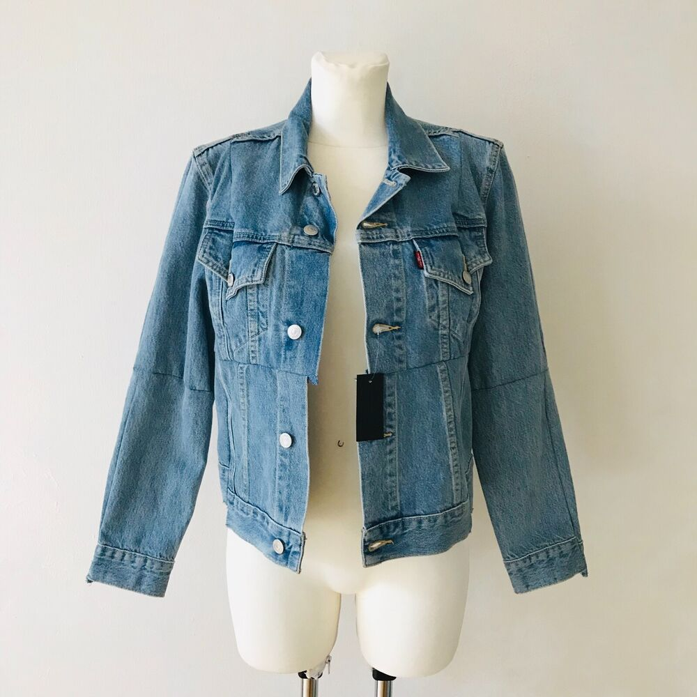 * New * Vetements X Levi's Reworked Denim Jacket Veste En Jean Blue Size S/36 Women