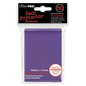 Standard Sized #82676 Ultra Pro Deck Protector Sleeves Purple 100 Count