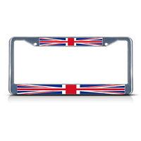British Flag United Kingdom Metal License Plate Frame Tag Border Two Holes
