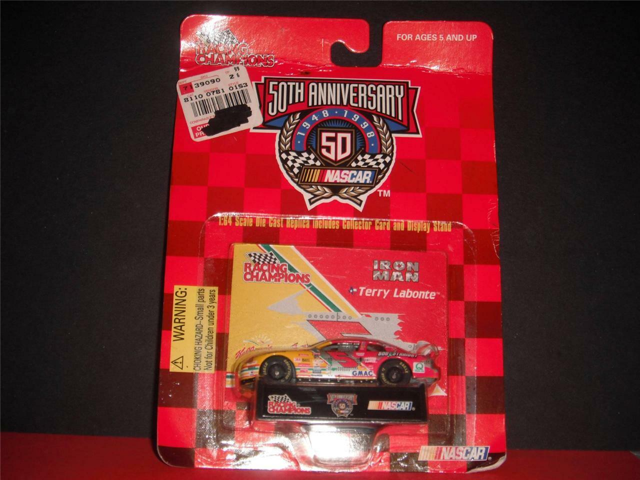 Terry Labonte Collector Card Display Stand & Car NASCAR Racing Champions  New