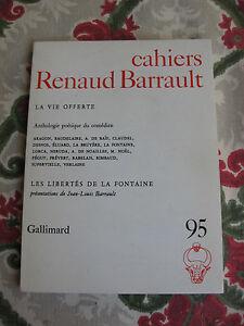 1977-Cahiers-Renaud-Barrauld-La-vie-offerte-Poemes